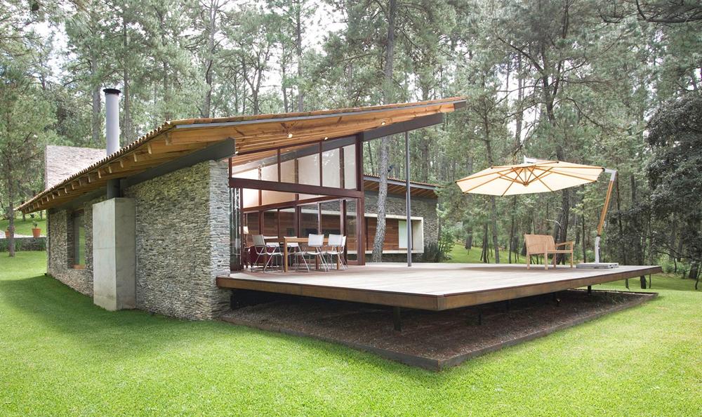Moderno interior con estructura de madera | Planos de Arquitectura ...