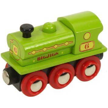 BigJigs Wooden Railway Saddle Engine BJT424