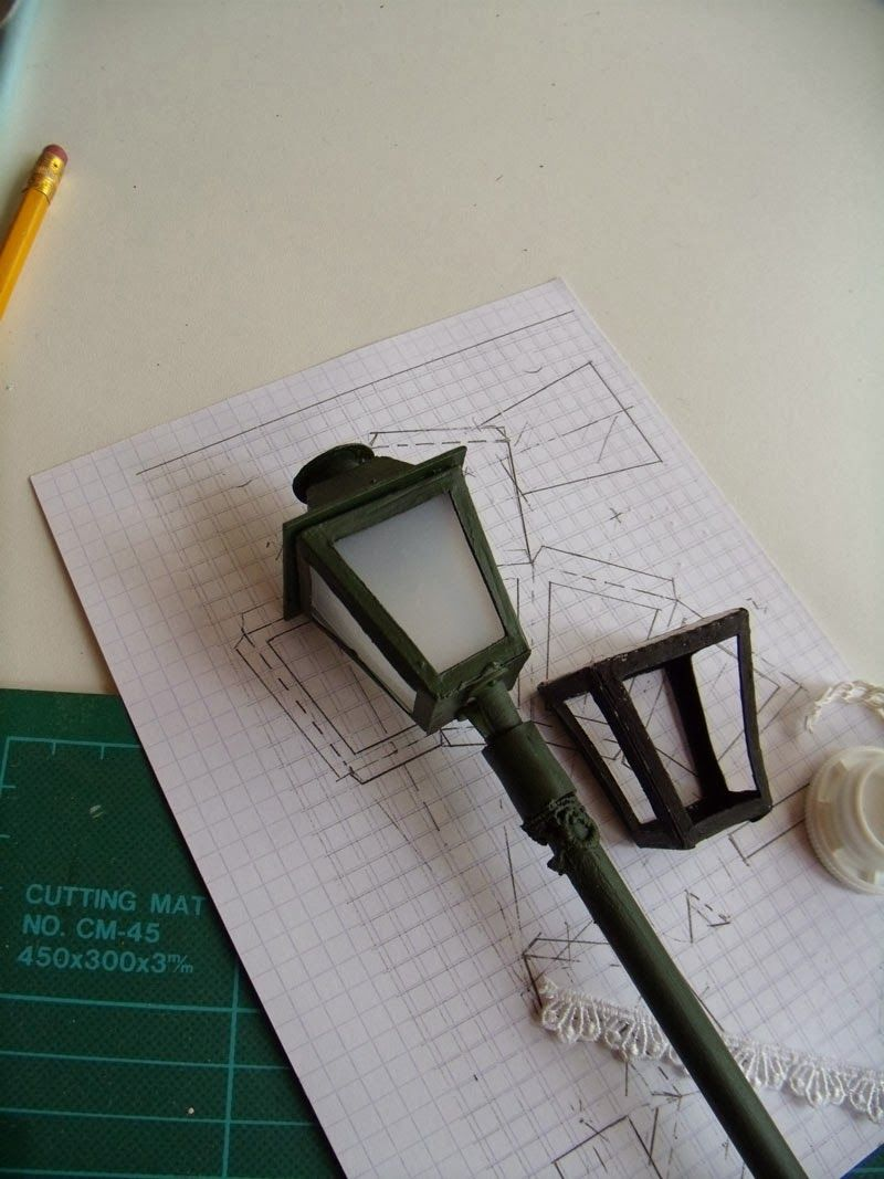 street lamp tutorial modelos pinterest miniatur modellhaus und miniaturen f r puppenh user. Black Bedroom Furniture Sets. Home Design Ideas