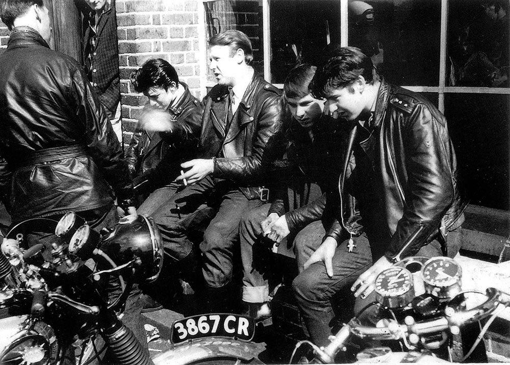 Image result for Rocker astride his BSA. Golden Flash Motorcycle.