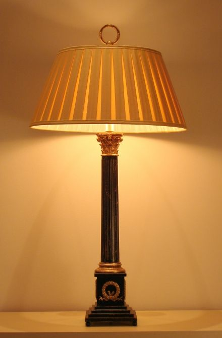 Table Lamp Medium Corinthian Column On Stand Empel Collections Materials Used Wood Reeded Column Resin Or Bronze Capita Lamp Table Lamp Corinthian Column