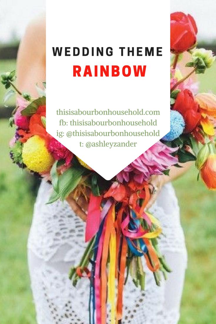 Rainbow Wedding Rainbow Wedding Colors Rainbow Wedding Theme
