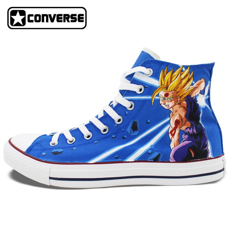 2882ba6a3f71 Dragon Ball Son Goku Anime Shoes Man Woman Converse Chuck Taylor Hand  Painted Shoes Men Women