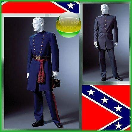 McCalls 4745 CIVIL WAR UNIFORM PATTERN Confederacy Union   Costumes ...