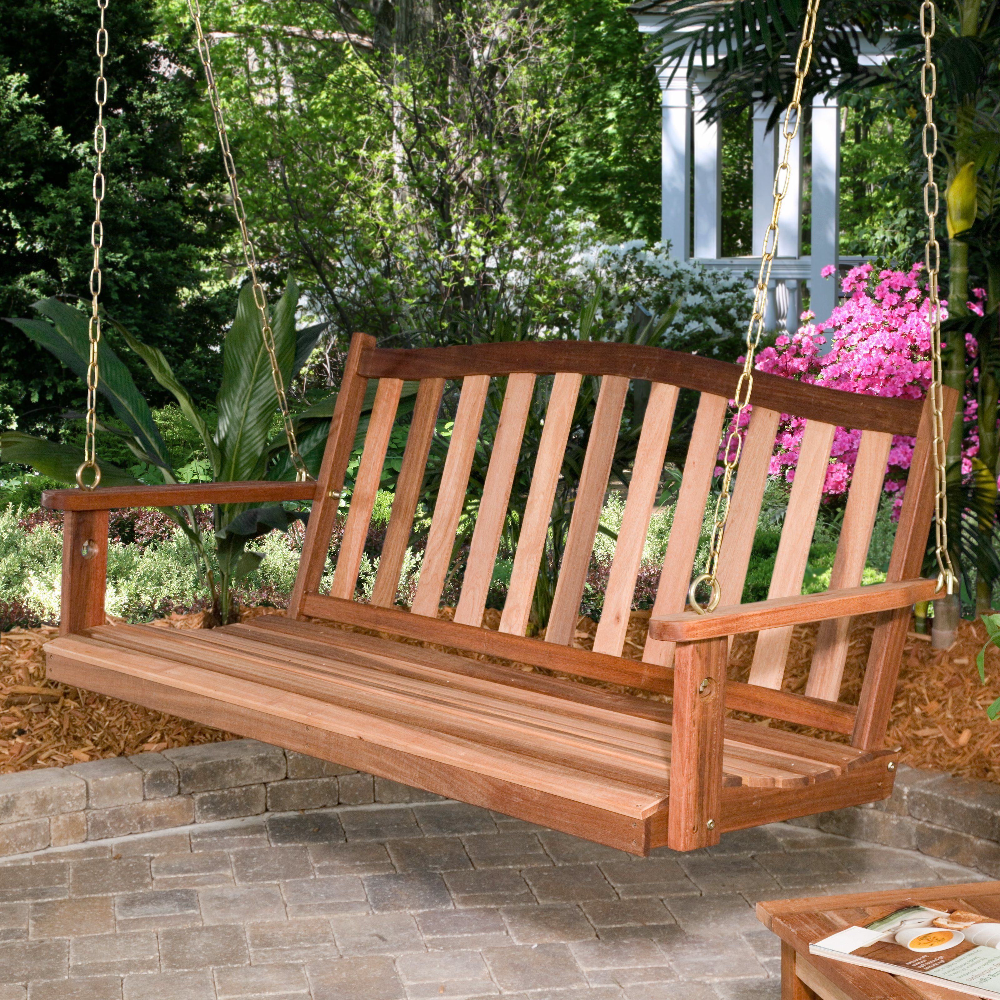 Belham Living Richmond Curved Back Porch Swing The C Coast Is What Relaxing All About With Hanging Hardware