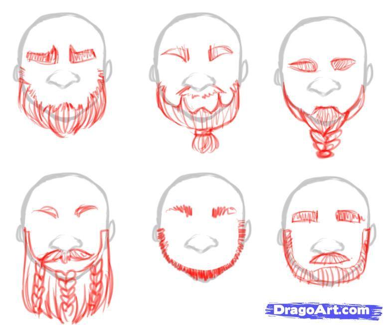 how to draw dwarves draw a dwarf step