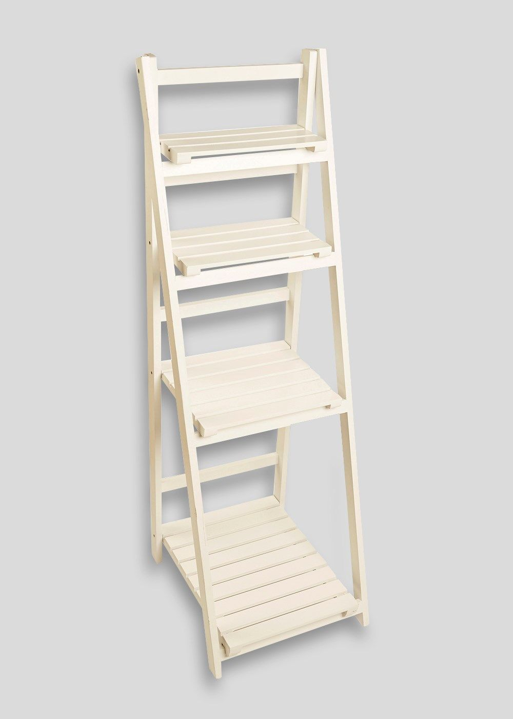 Slatted Bathroom Shelving Ladder Unit (125cm X 45cm X 40cm)