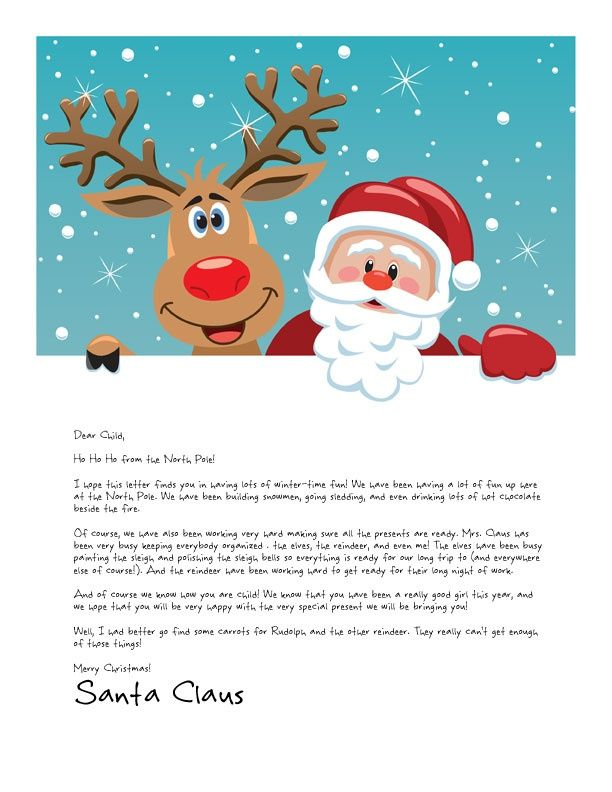 It is a picture of Impertinent Letter From Santa Template Printable