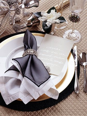 White China Place Settings for the Holidays