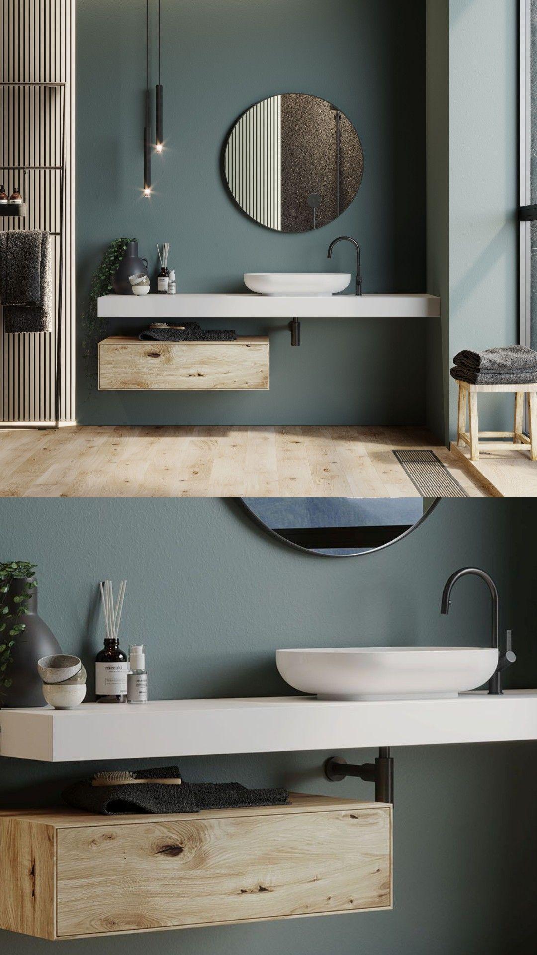 Corian® Waschtischplatten für das perfekte Badezimmerdesign.