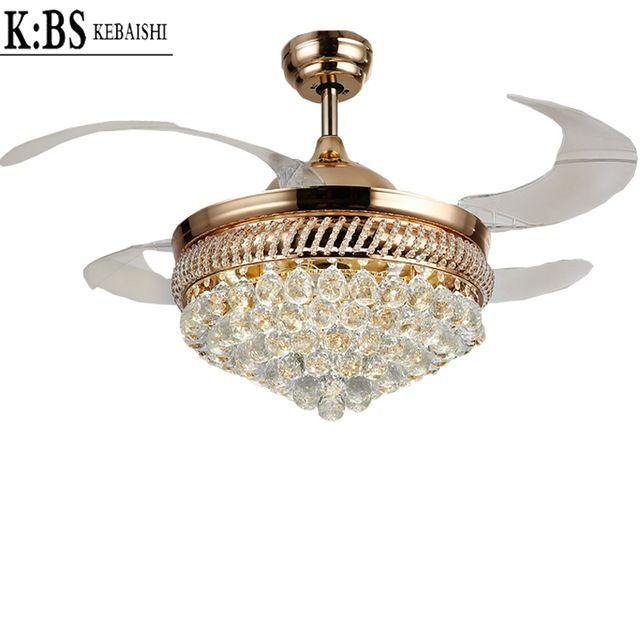 Online Shop Classical European Luxury Living Room Restaurant Invisible Fan Lights Ceiling Fan Lights With Rem Ceiling Fan Ceiling Fan With Light Chandelier Fan
