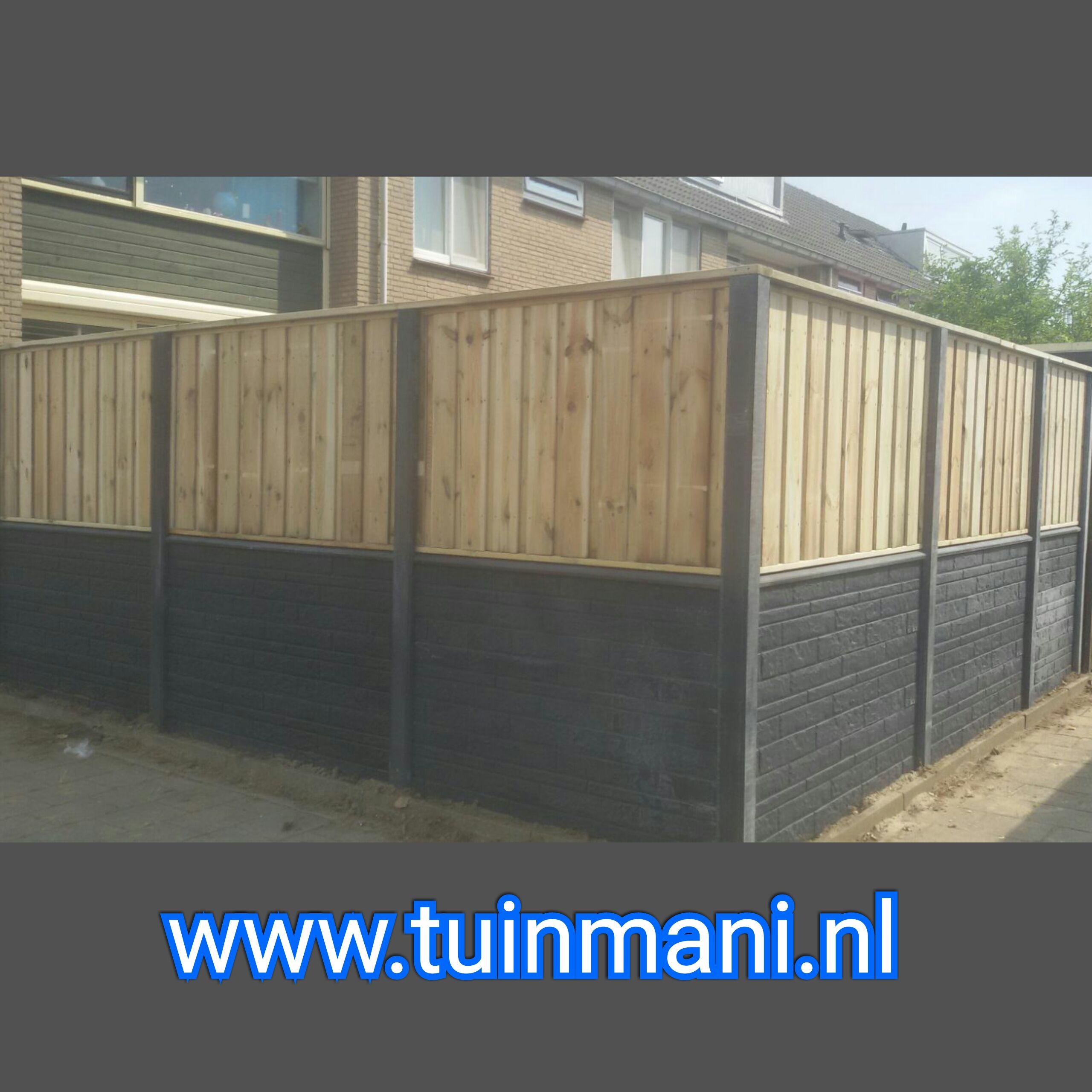 Tuinscherm Multi Grenen Recht 180x180cm Achtertuin Tuin Multi