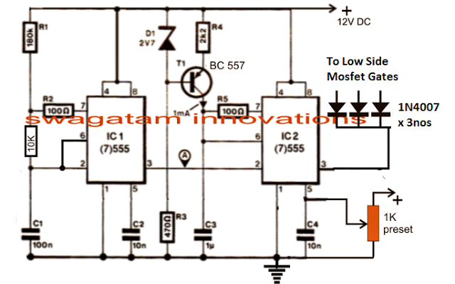 3 Phase Vfd Circuit Circuit Projects Circuit Design Circuit