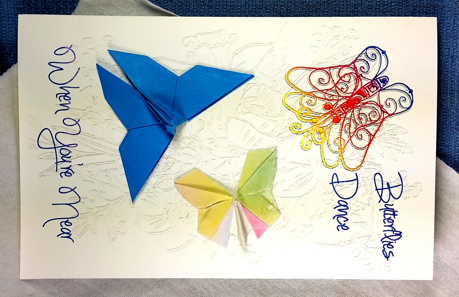 handcrafted cardsorigami butterfly card 3d birthday cards