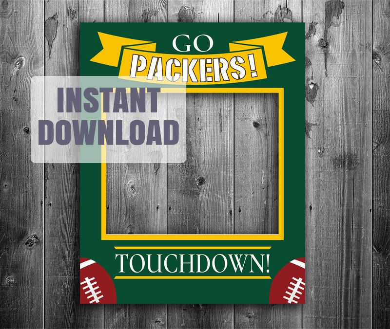 Packers photo booth frame, digital download, nfl green bay ...