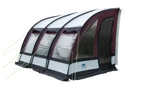 Sunncamp Ultima 390 Plus This Iconic Caravan Awning Not Only Has A Stunning Look But Is Also Made In Strong Dura Caravan Awnings Camper Caravan Porch Awning