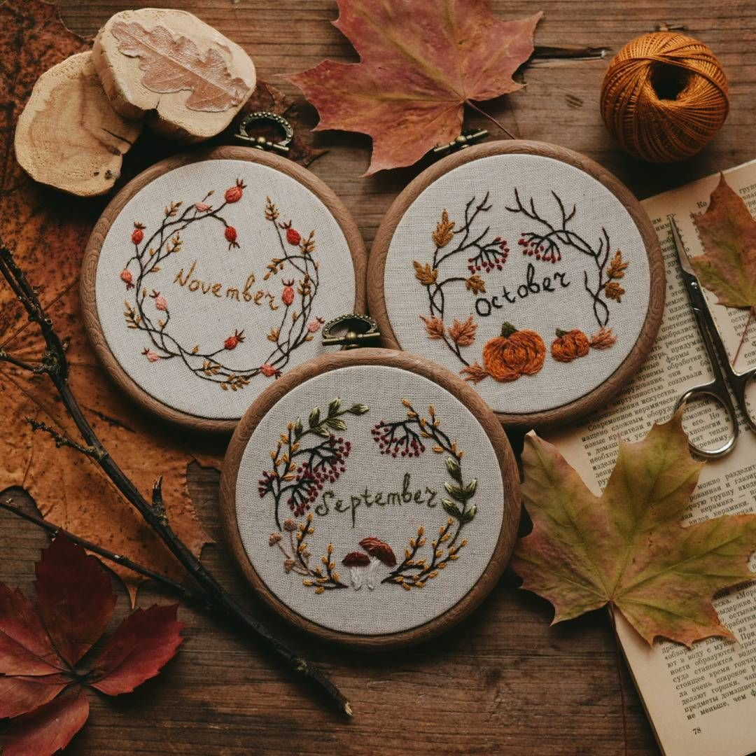 Simple Embroidery Can Help Create Autumnal Style In Your Home