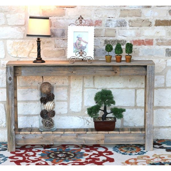 Shop Rustic Entry Way Table - Overstock - 25602393