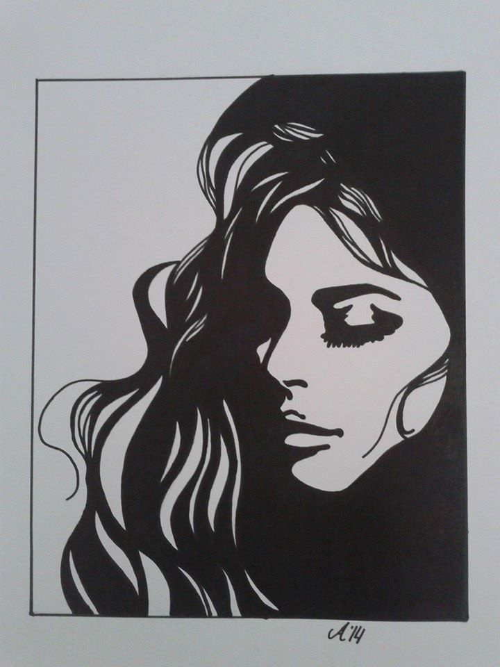 Black Marker Drawing With Images Marker Drawing