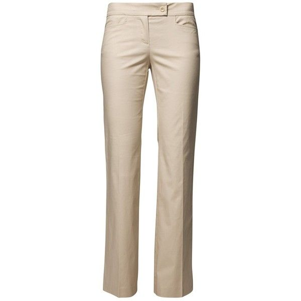 Stefanel Trousers beige (1.445 RUB) ❤ liked on Polyvore featuring pants, bottoms, pantalones, beige trousers, pink pants, stefanel, beige pants and pink trousers
