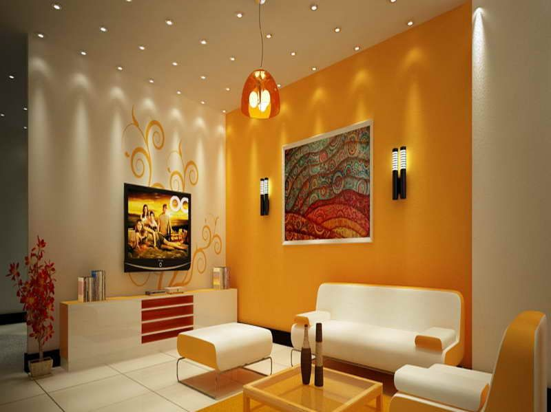 Combinations Best Color For Living Interior Decoration Room Rendering