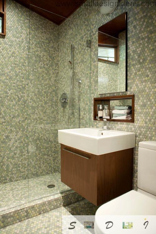 Web Photo Gallery Extra Small Bathroom Design Ideas in pixel tile mosaic of the modern minimalistic bath