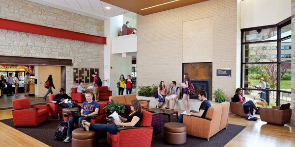 The Campus Living Room In Campbell Student Union At Carthage College Wisc