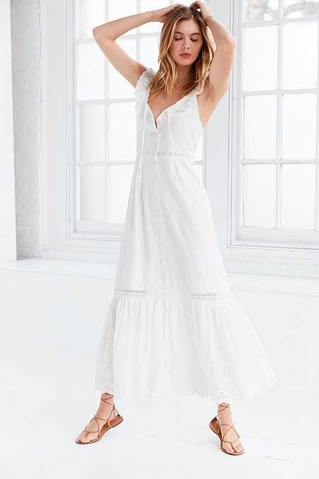 9e44ceeac072 Somedays Lovin' Heart Eyelet Maxi Dress   HOT SUMMER   White eyelet ...