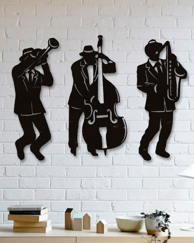 Caz Müzik Metal Tablo Jazz Music Wall Decormetal
