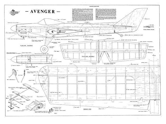 Aeroflyte Avenger - Control line stunt model Australian - control plan