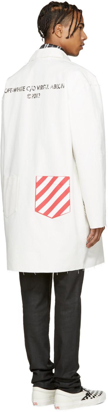 White Work Coat | White white