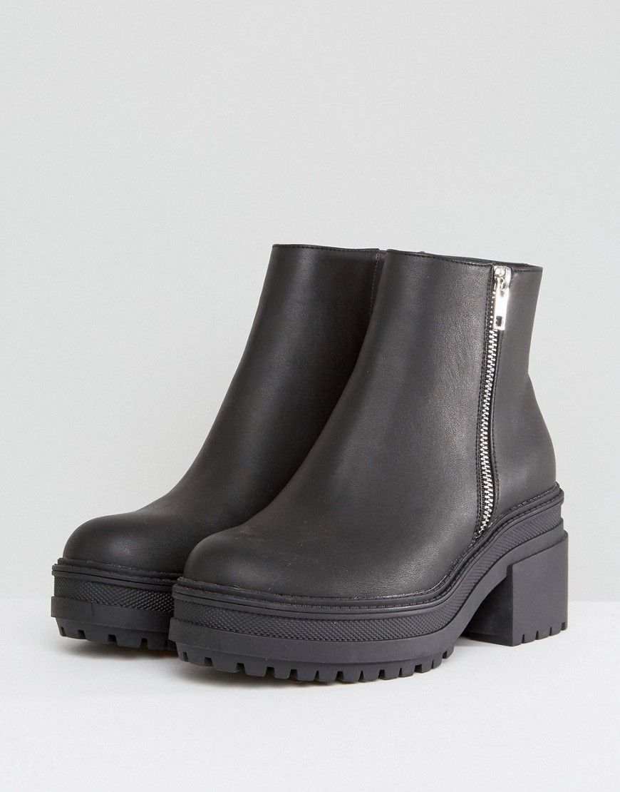 ASOS RAPID Chunky Ankle Boots - Black