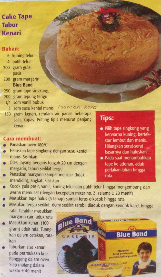 Resep Cake Tape Makanan Makanan Enak Makanan Jalanan