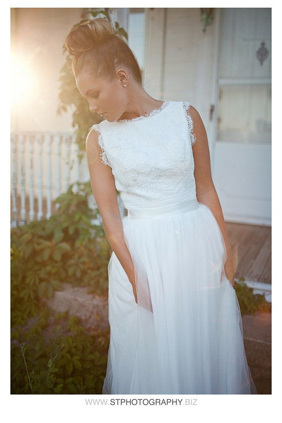 Angie Wedding Dress Gowndeep V Neck And Boat By Tingbridal
