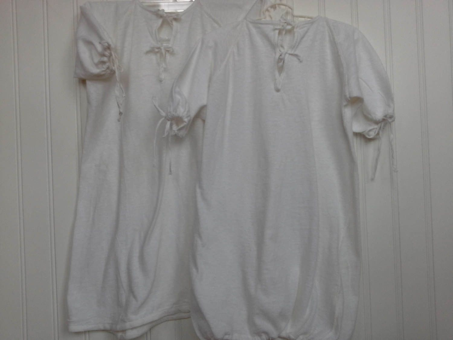 Vintage Baby Gowns, Drawstring Baby Gowns, 1950\'s Baby Gowns, White ...
