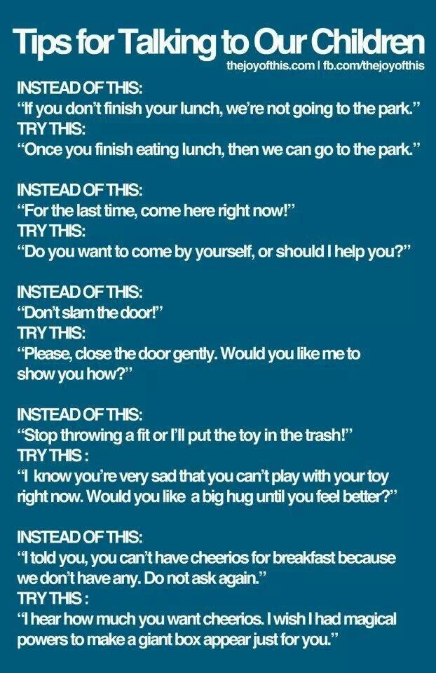 Tips how to talk to your child