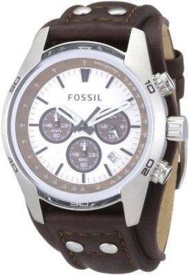a99d322838b5f Relógio Fossil Men s CH2565 Cuff Chronograph Tan Leather Watch  Relógio  Fossil  Relogio De Pulso