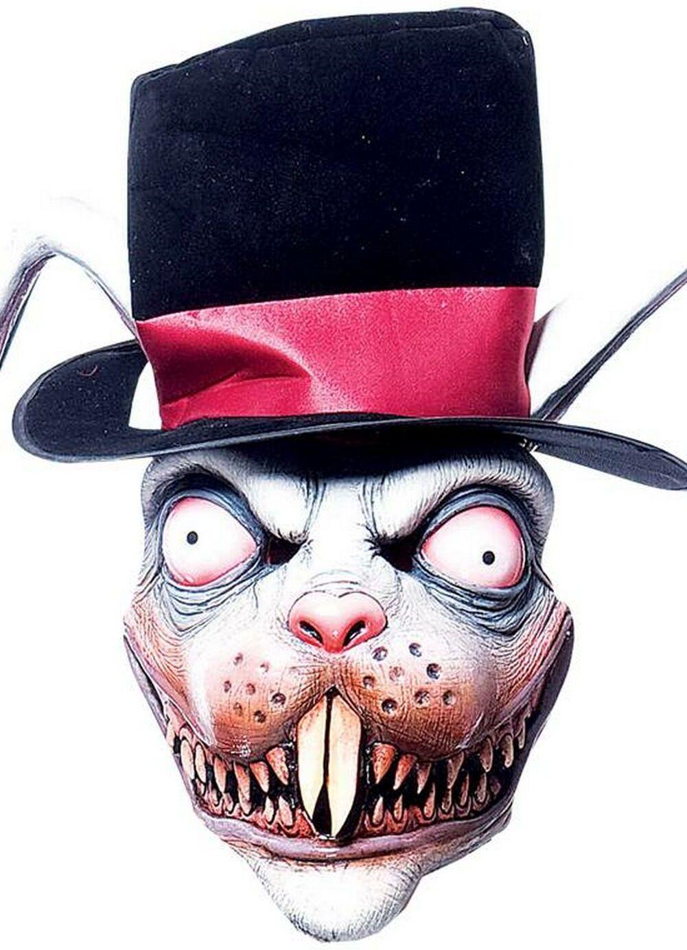 Creepy Wicked Wonderland White Rabbit Mask - Scary!!   Scary masks ...