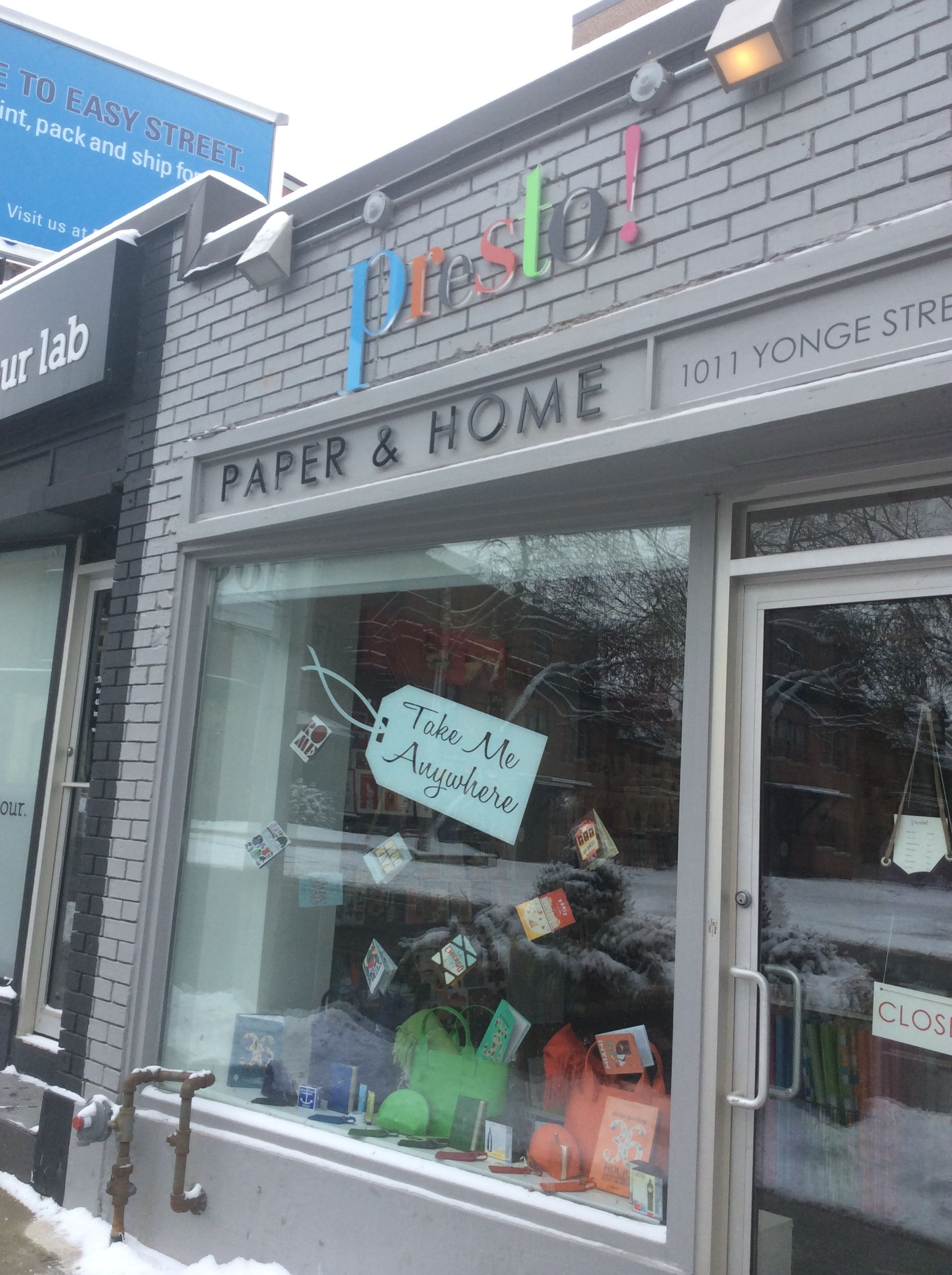 This cute store sells paper as in greetingcards