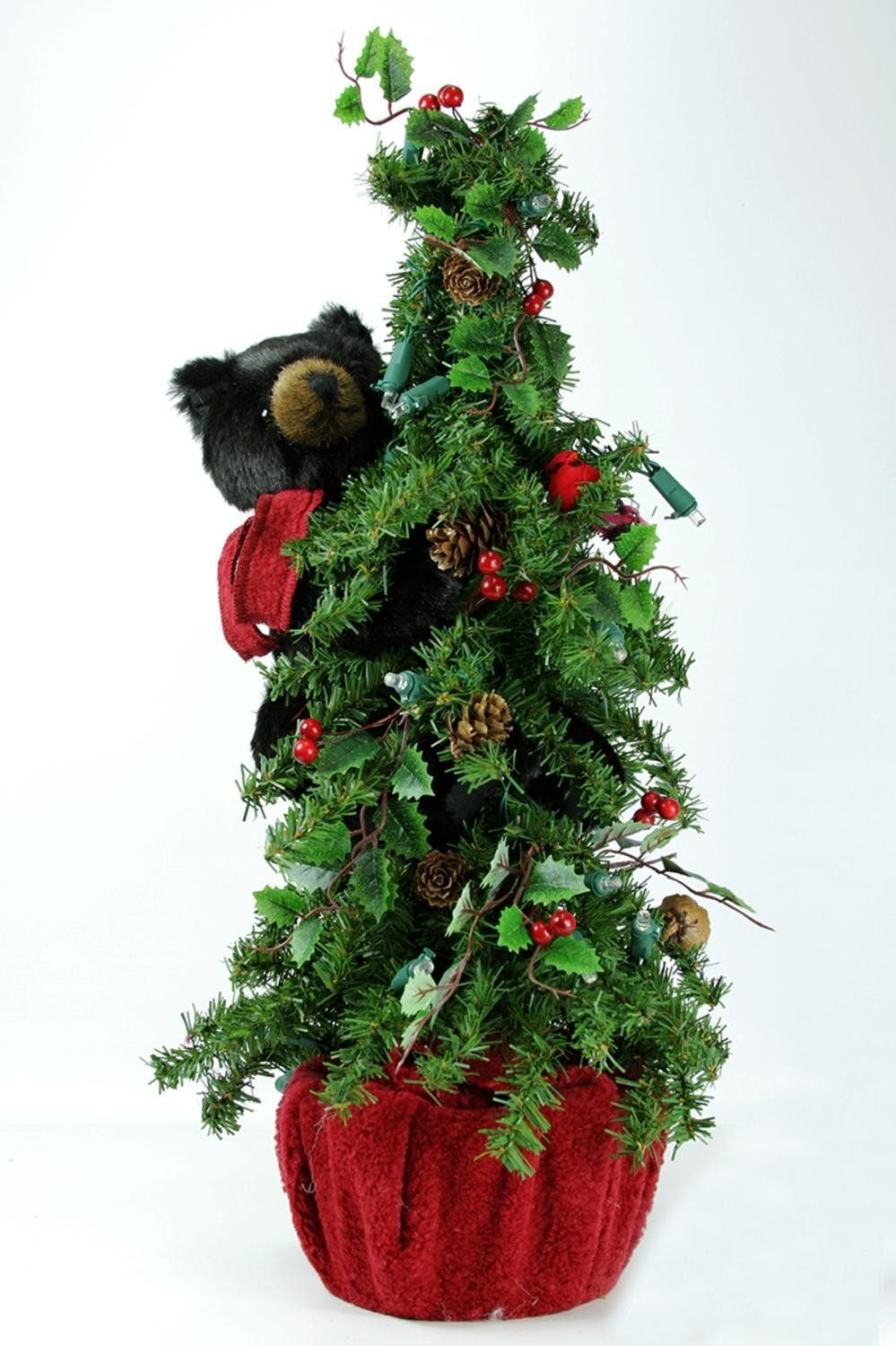 22' PreLit Battery Operated Alpine Artificial Christmas