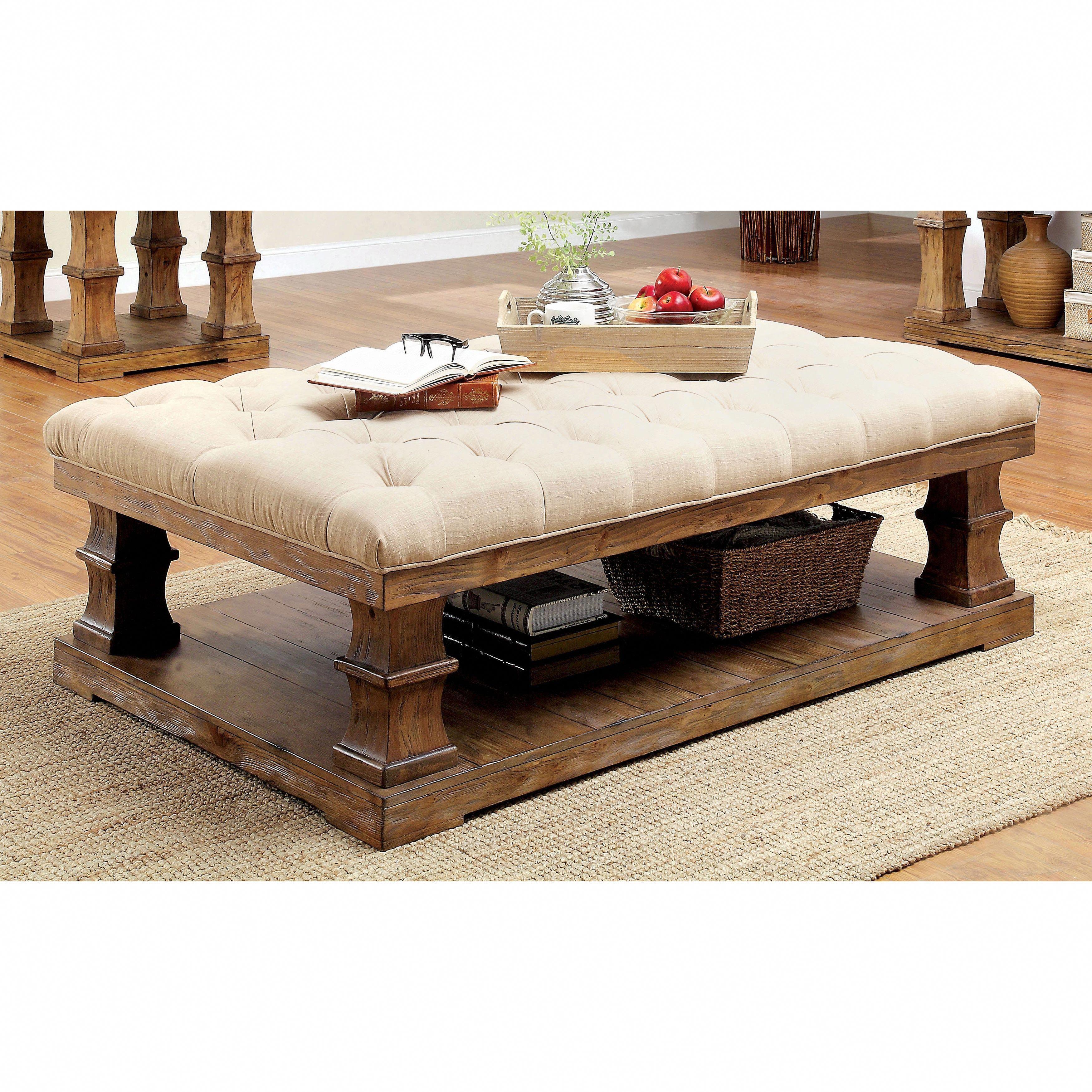 Best Furniture Of America Temecula Rustic Farmhouse Tufted 400 x 300