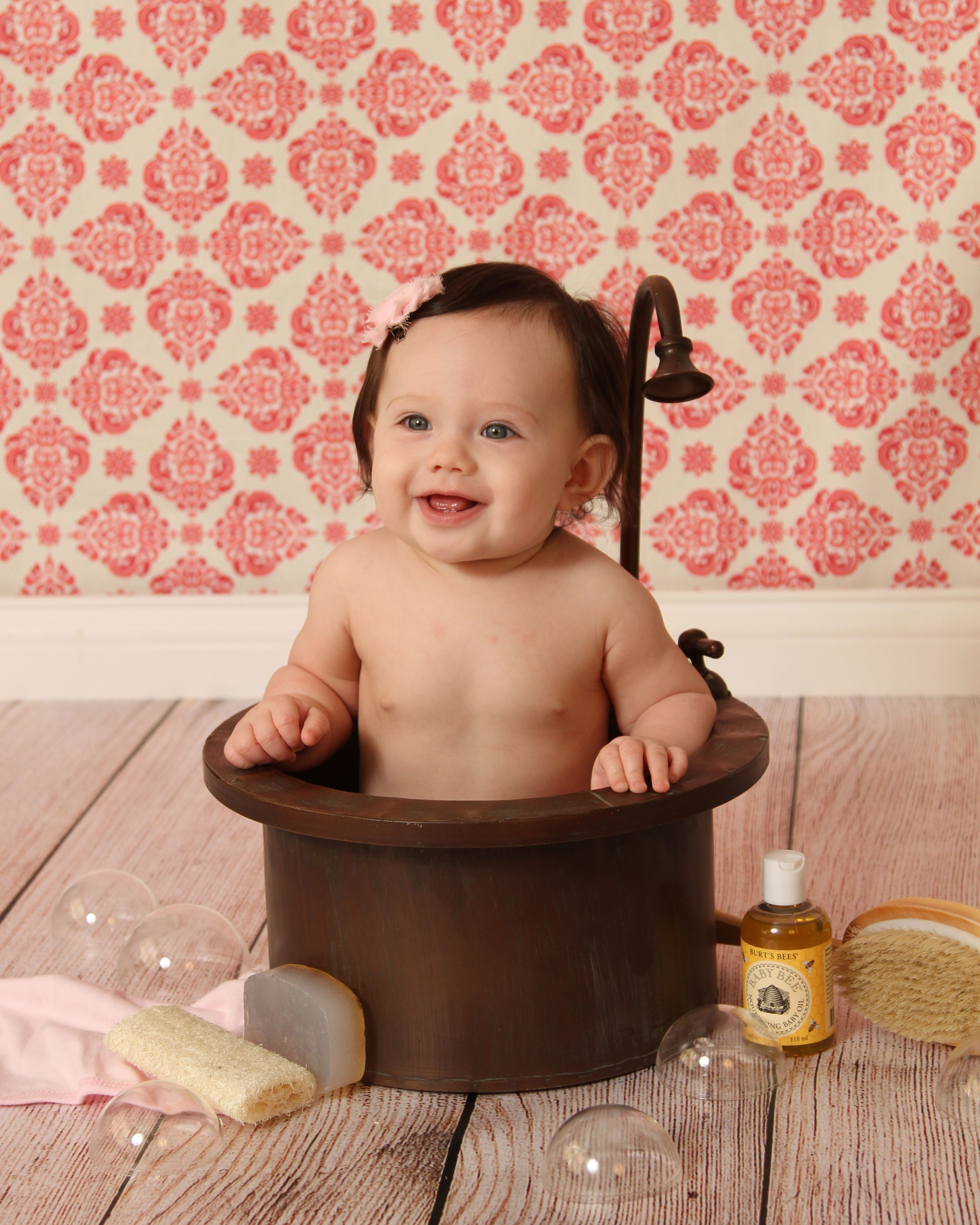 baby portraits| bathing| 6 months old| baby girls | Baby Picture ...