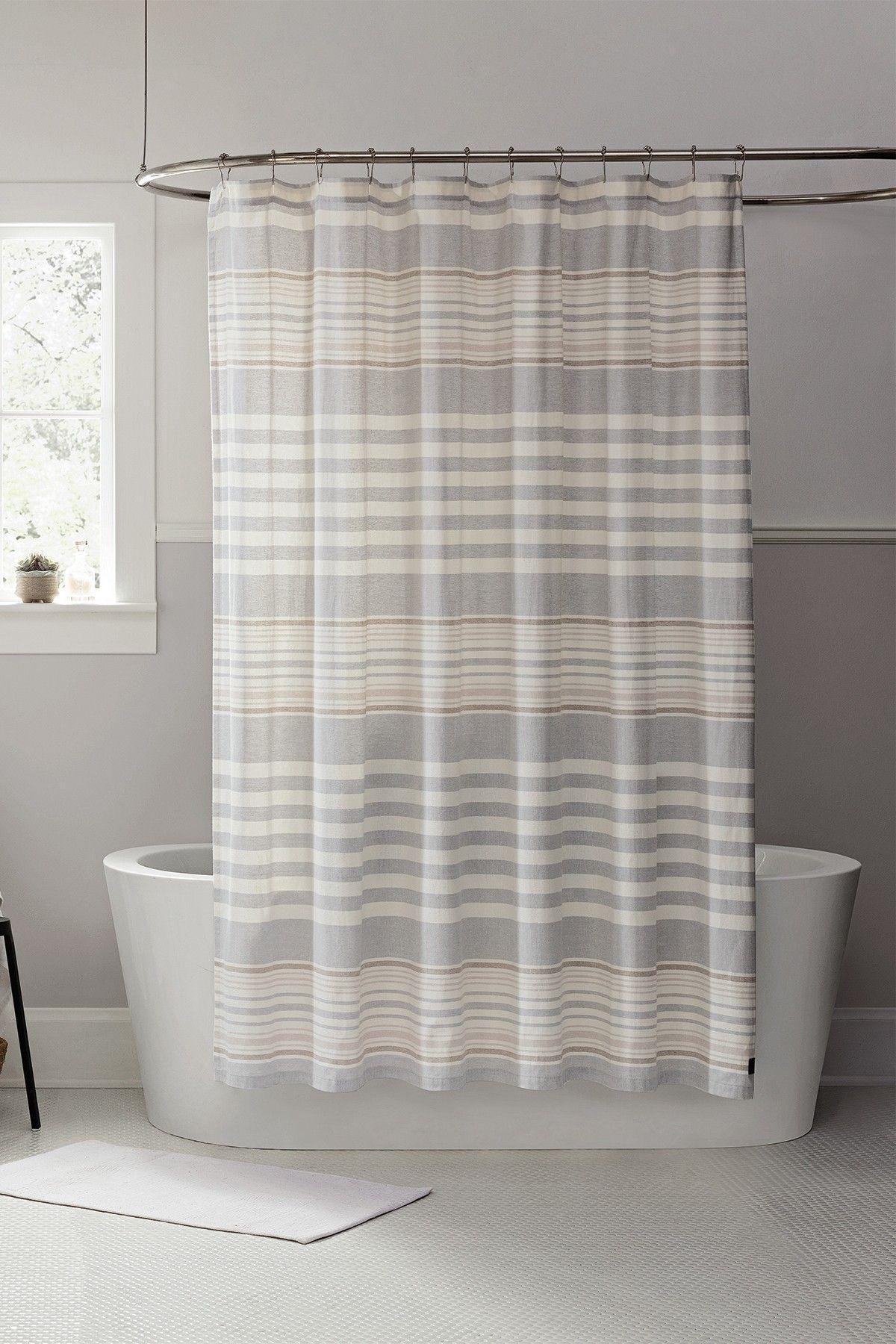 Ugg Seal Lunar Stripe Shower Curtain Striped Shower Curtains Modern Bathroom Decor Shower Curtain