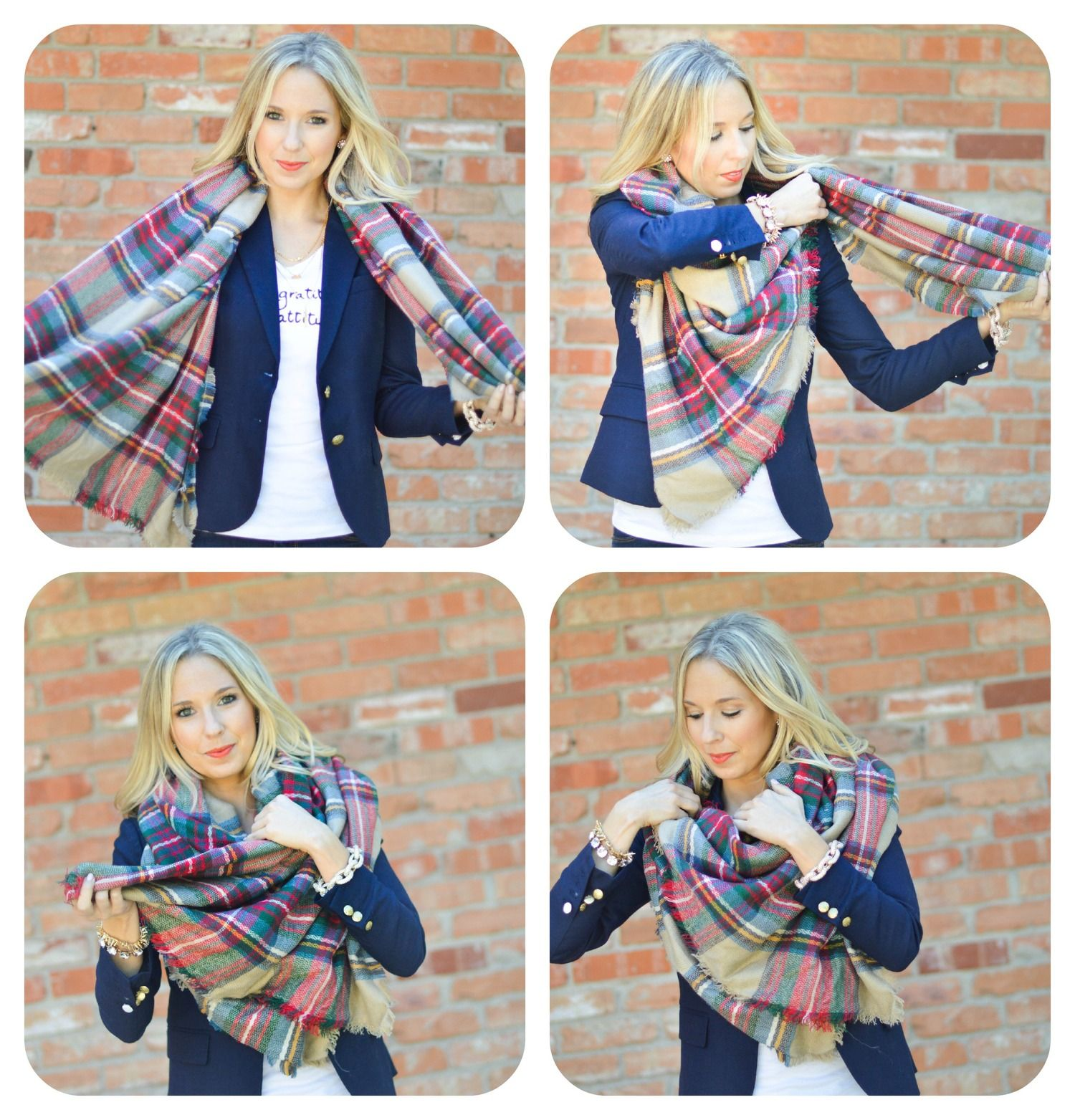 4 Ways To Wear The Blanket Scarf Style How To Wear A