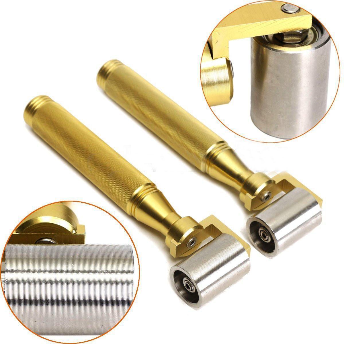 Golden Stainless Steel Handle Wallpaper Seam Roller Seamed Wall