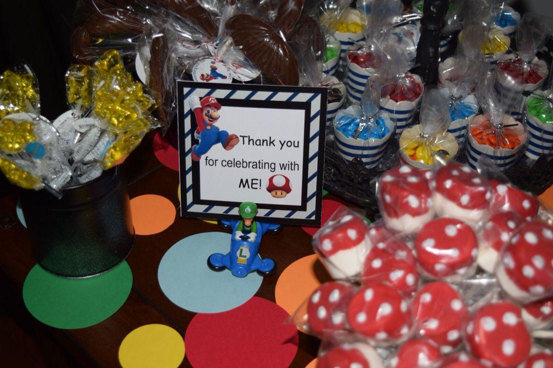 Mario birthday party by The unique studio