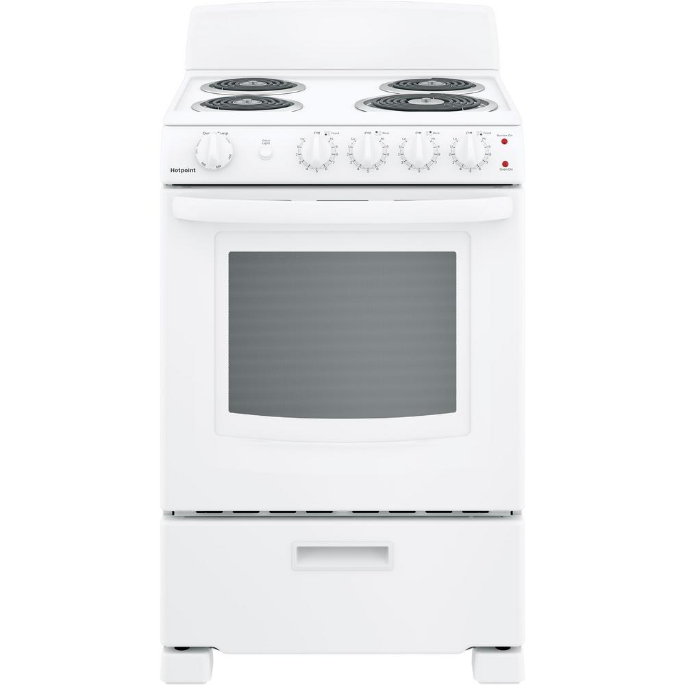 Hotpoint 24 In 2 9 Cu Ft Electric Range Oven In White