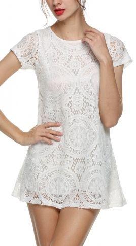 Feel So Fine Lace Dress - White