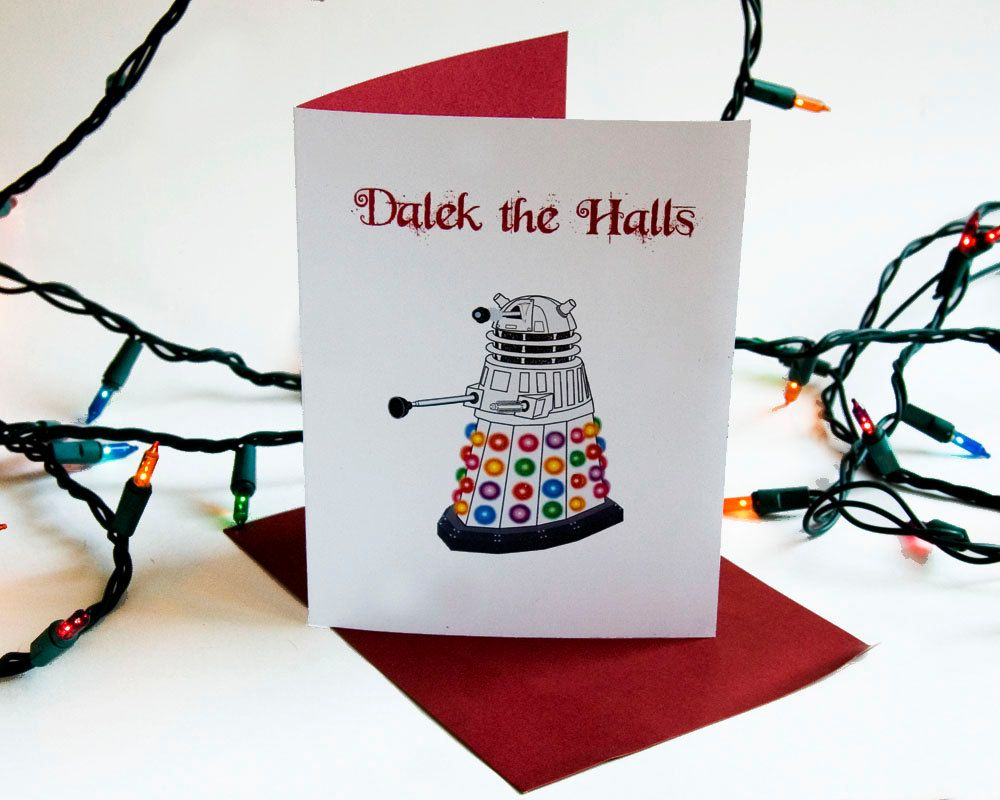 Doctor Who Christmas Cards.Dalek Doctor Who Christmas Card Too Funny Geek Christmas Stuff