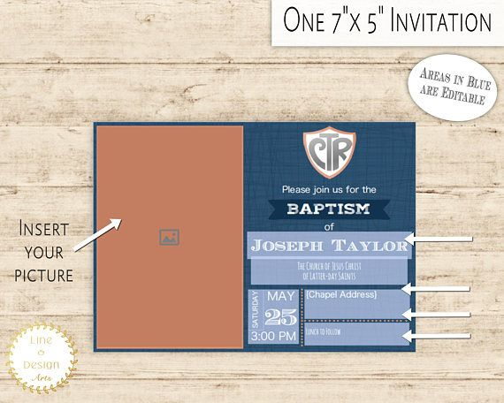 Editable PDF Baptism Invitation ↣ ↣ ↣ ↣ ↣ ↣ ↣ You are